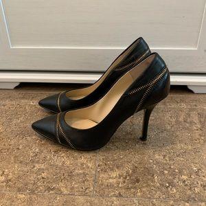 Enzo Angiolini zipper accent heels